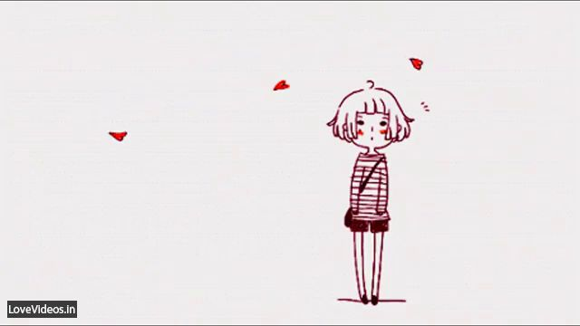A Cute Love Story Animated Status Video
